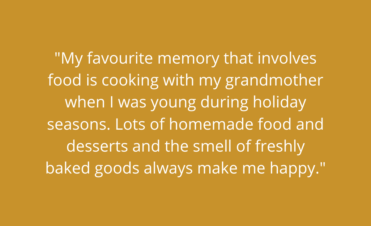 A favourite memory about cooking with grandma during the Holidays