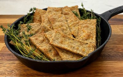 Whole wheat parmesan thyme crackers